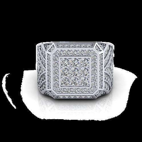 Nhẫn nam kim cương thiết kế KJM0594