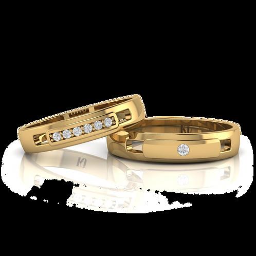 Nhẫn cưới thiết kế KJW0068