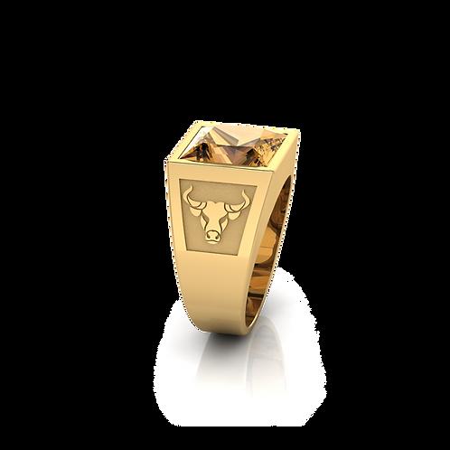 Nhẫn nam khắc hình trâu KJM0713M2