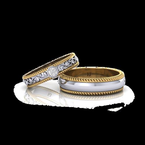 Nhẫn cưới thiết kế KJW0130
