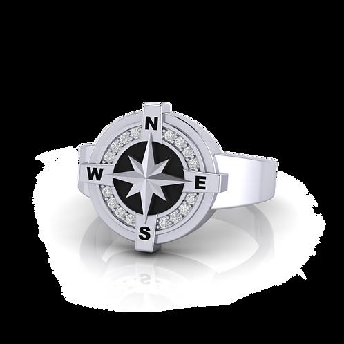 Nhẫn nam La Bàn Compass KJM0593