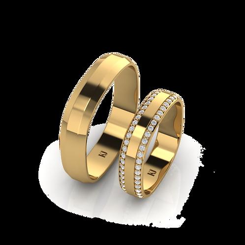 Nhẫn cưới vuông KJW0807
