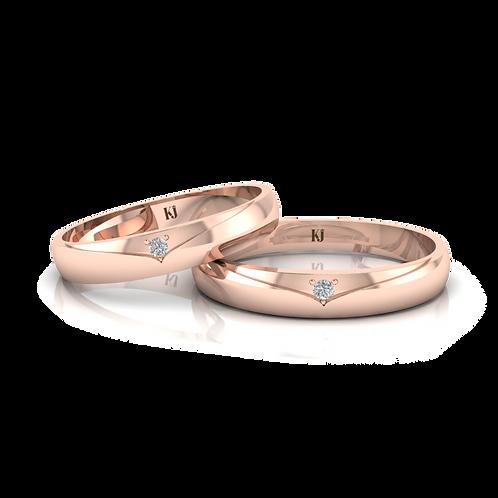Nhẫn cưới thiết kế đơn giản KJW0116