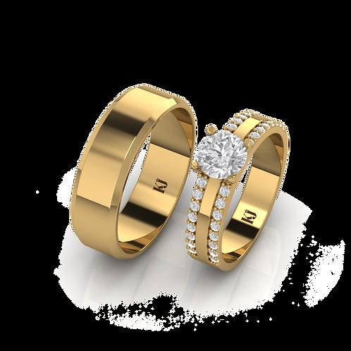 Nhẫn cưới thiết kế My Love KJW0198