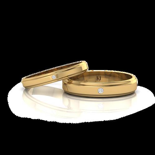 Nhẫn cưới tròn trơn KJW0137
