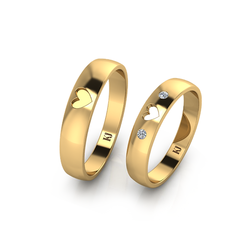 Nhẫn cưới trái tim KJW0151