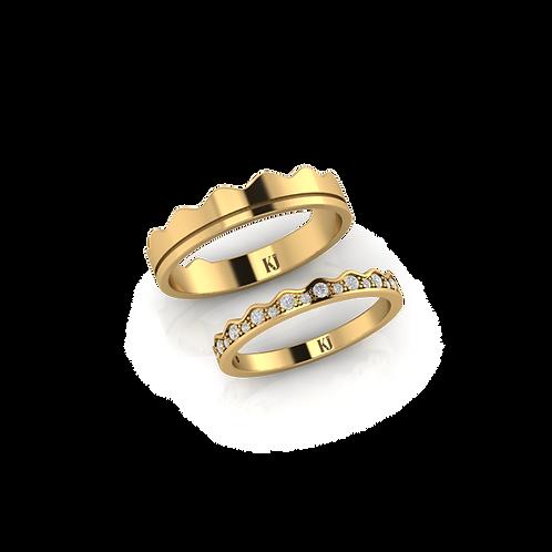 Nhẫn cưới vương miện đính đá KJW0275