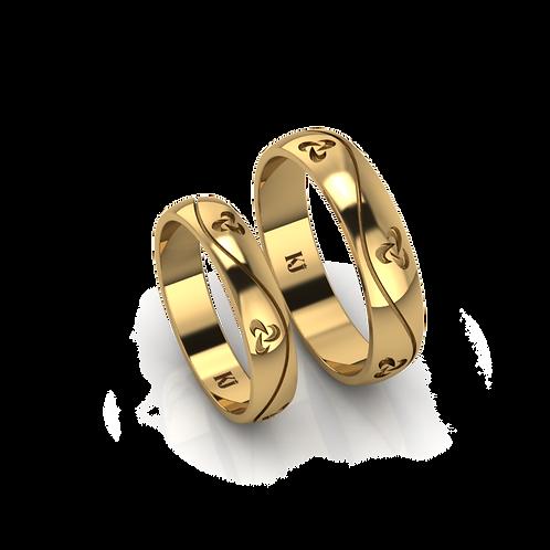 Nhẫn cưới cỏ 3 lá KJW0097
