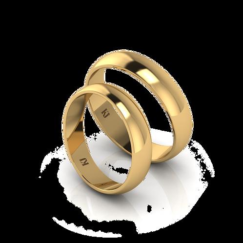 Nhẫn cưới vàng tròn trơn KJW0136 M1