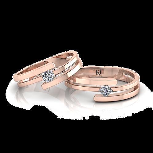 Nhẫn cưới thiết kế KJW0155