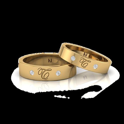 Nhẫn cưới theo tên KJW0816