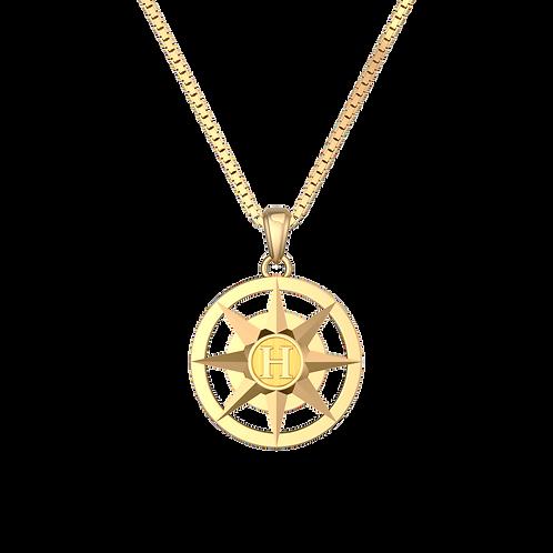Mặt dây tròn kèm chữ KJP0381