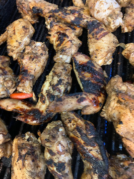 Jerk Chicken on the Grill