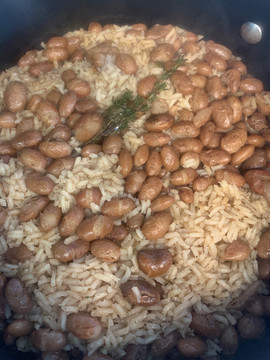 Brown Rice and Beans
