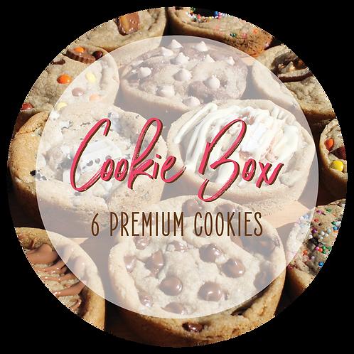 Premium Cookie Box - 6 Cookies
