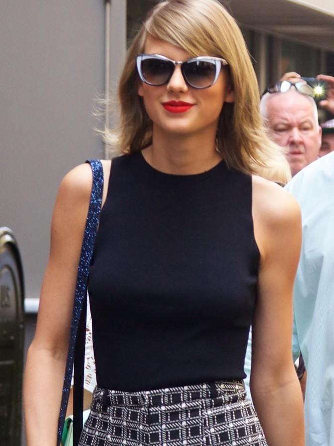 Taylor Swift wears stylish Swarovski Sunglasses