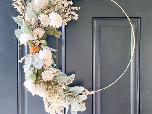 DIY Modern Asymmetrical Fall Wreath