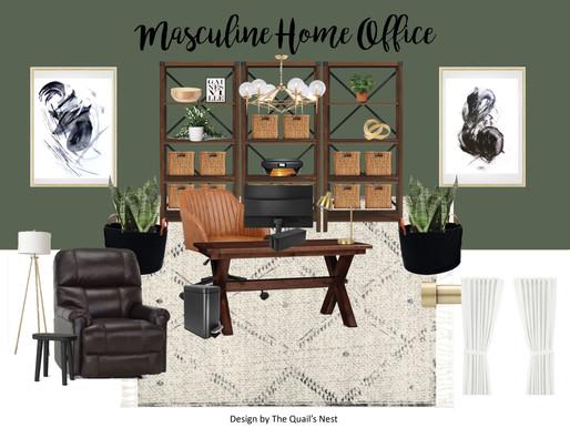 Masculine Home Office Design