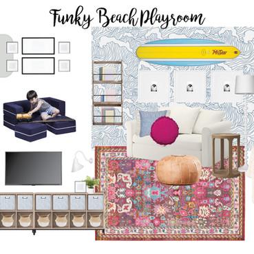 Funky Beach Playroom Design   Playroom Mood Board