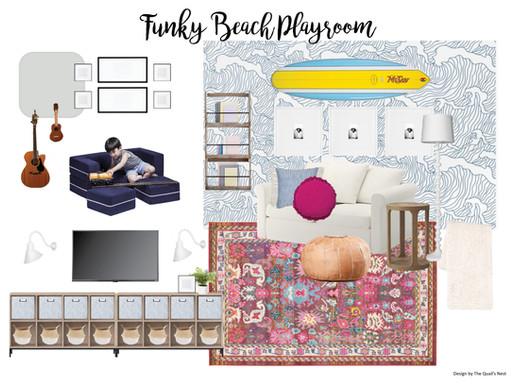 Funky Beach Playroom Design | Playroom Mood Board