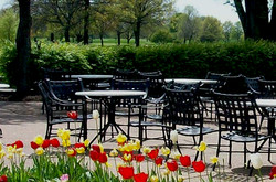 Outdoor Patio at Indian Lakes Hotel