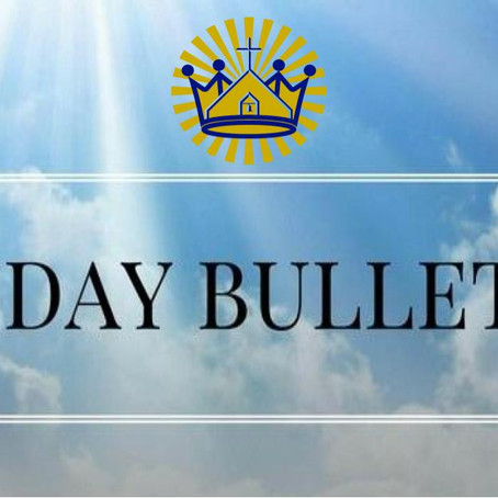 Weekly Bulletin  for June 15, 2020
