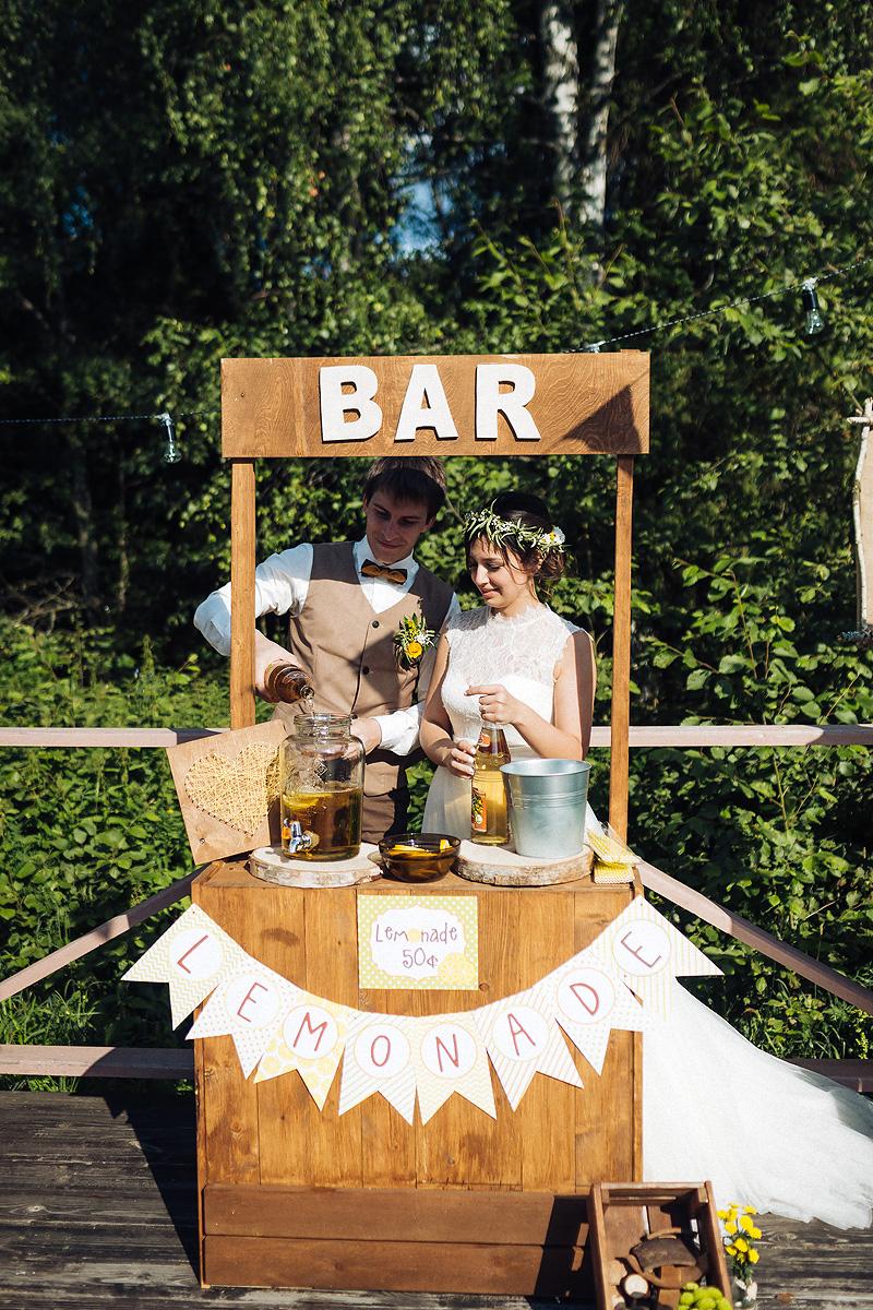 Лимонадный бар на свадьбу