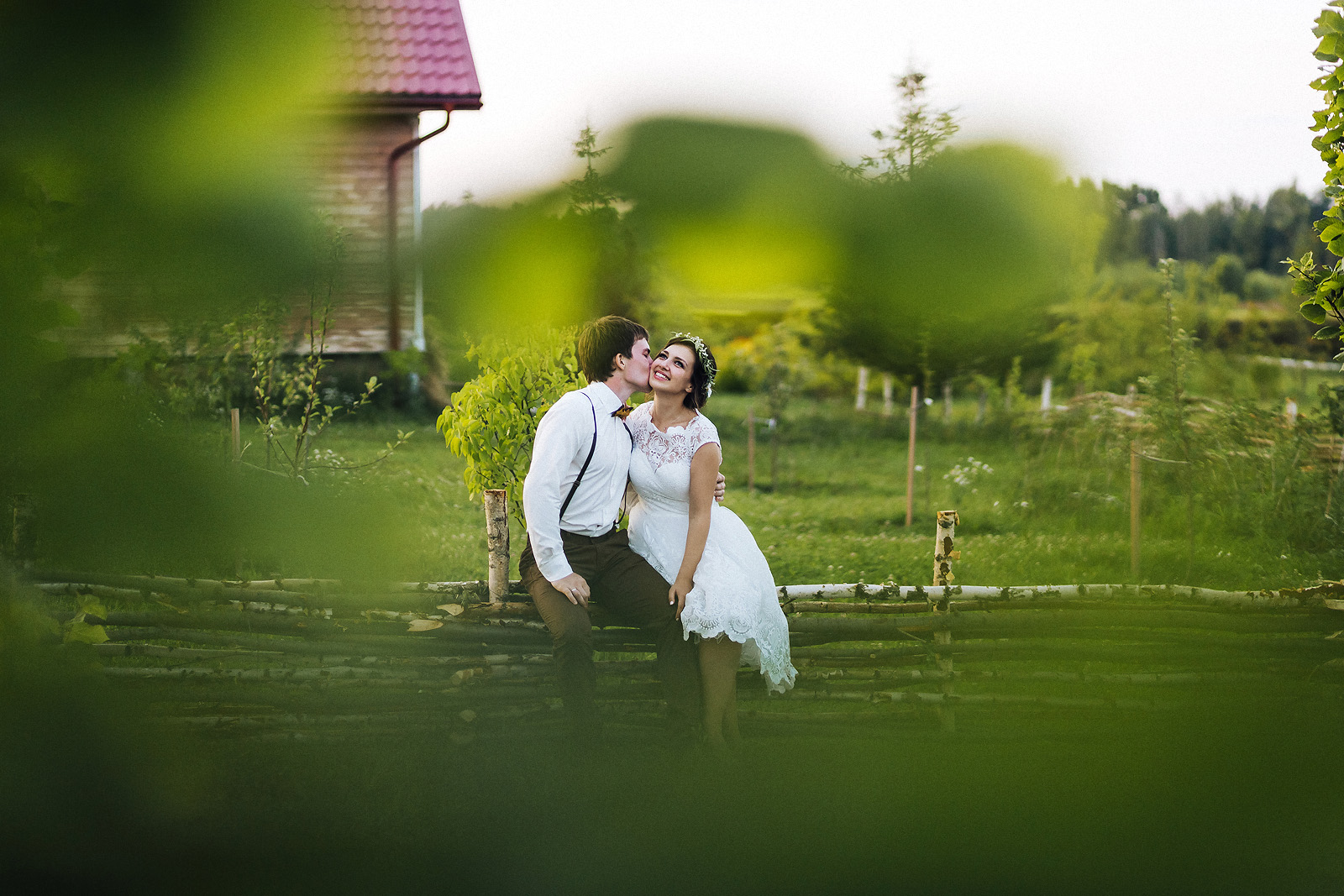Свадебные фотографии на закате