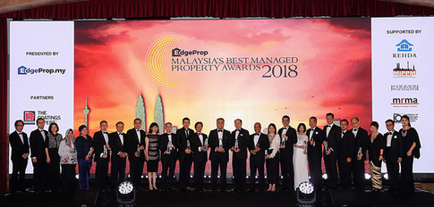 The winners of EdgeProp Malaysia's Responsible Developer winners and Editor's Choice Awards as well as the gold winners of EdgeProp Malaysia Best Managed Property Awards and the representatives of EdgeProp.my.