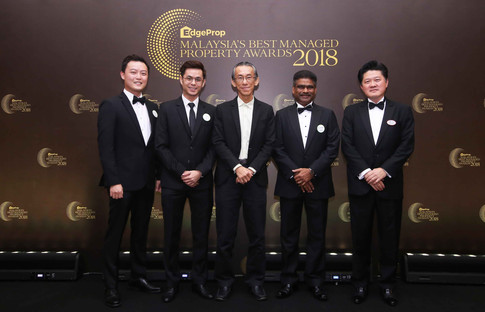 From left: Eco Majestic Sdn Bhd sales and marketing assistant manager Nick Yong and Eco World Development Group Bhd, Ho Chin Soon Research Sdn Bhd chairman Ho Chin Soon, Eco World Development Group Bhd COO Datuk S Rajoo and S P Setia divisional general manager for niche developments Paul Soh Hee Pin.