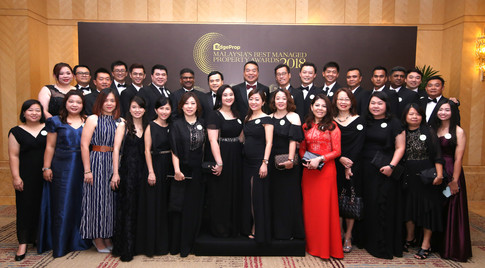 Ecoworld team at the awards yesterday