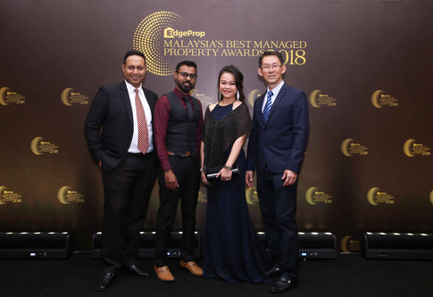 From left: Knight Frank Malaysia property management (commercial) senior manager Vignesh Pillai, security and safety manager Yogendran Suparmaniam, property management commercial executive director Natallie Leong and Khor Joo Saik Sdn Bhd general manager David Hong.