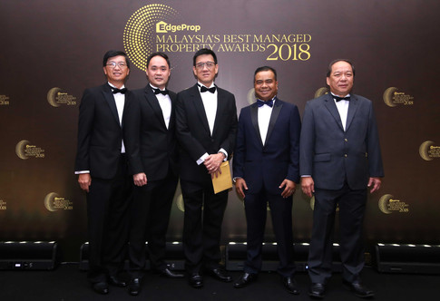From left: Raine & Horne International executive director Lim Lian Hong, Knight Frank Malaysia executive director of valuation Keith Ooi, Sunway PFM Sdn Bhd chief operating officer Cheng Jew Keng, Firdaus & Associates Property Professionals managing director Firdaus Musa and Rahim & Co Selangor managing director Choy Yue Kwong