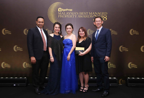 From left: Knight Frank Malaysia property management (commercial) senior manager Vignesh Pillai, executive director Natallie Leong, executive director Lee Siow Sung, finance senior manager Fion Pao and Khor Joo Saik Sdn Bhd general manager David Hong.