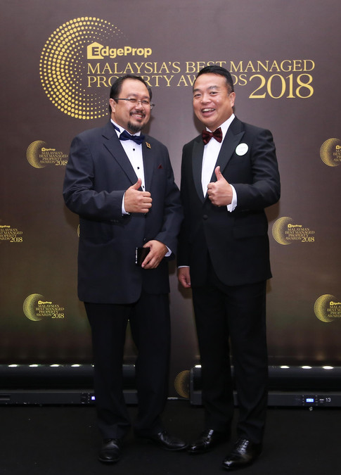 From left: Institute of Landscape Architects Malaysia president Associate Professor Dr Osman Mohd Tahir and Ecoworld Development Group Bhd president and CEO Datuk Chang Khim Wah