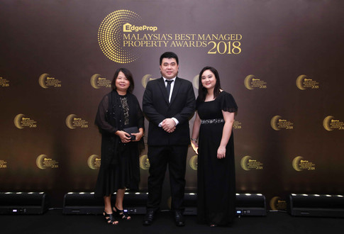 From left: Eco World Development Group Bhd project finance senior manager Liau Chiew Hong, EcoWorld Residence Club manager Byron Yap and customer relations executive Cassandra Tan.
