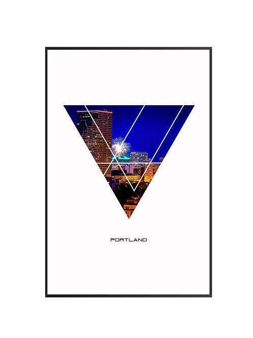 "Portland Triangular Poster 24""x36"" - v1"