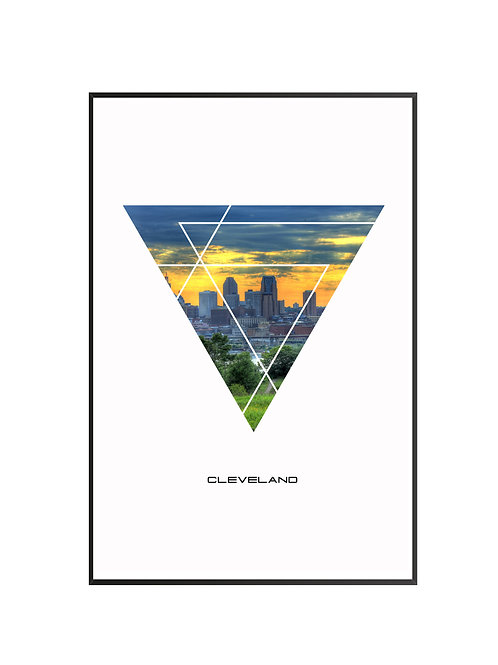 """Cleveland City Poster 24""""x36"""""""