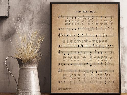 Holy Holy Holy - Hymn Print