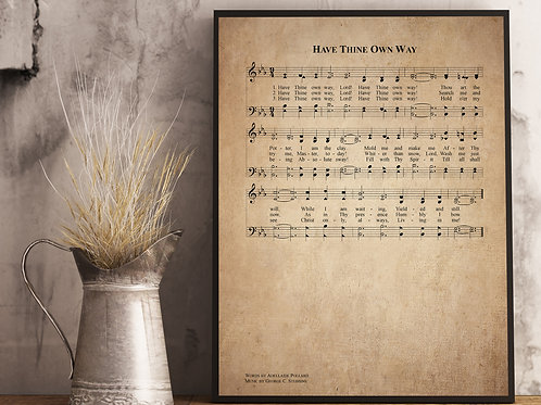 Have Thine Own Way - Hymn Print