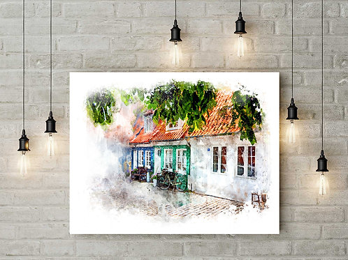 Colorful Homes Large Wall Art