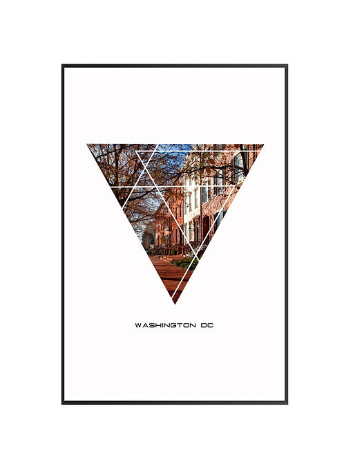 "Washington DC Triangular Poster 24""x36"" - v1"