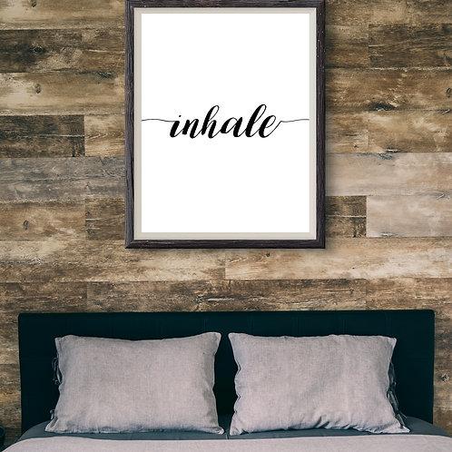 Inhale - Large wall art