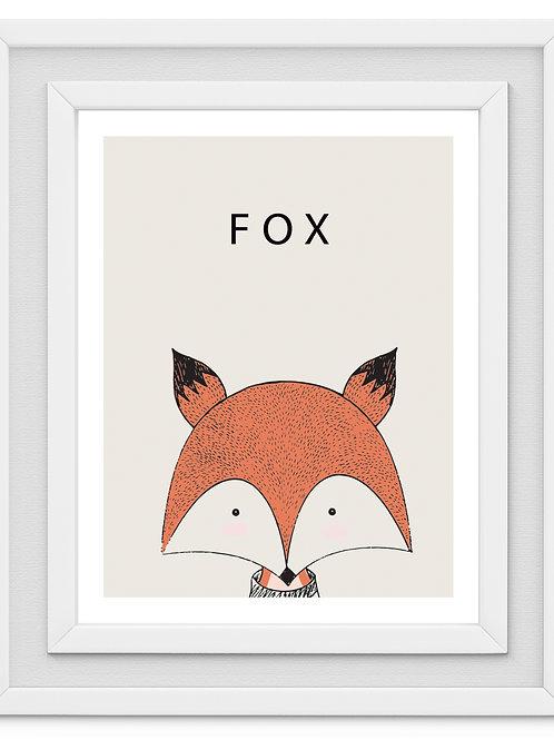 Fox Nursery Print