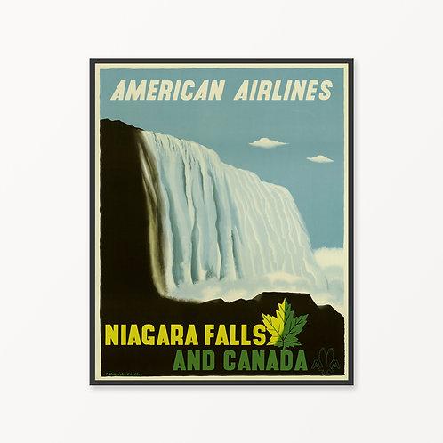 Niagara Falls Vintage Travel Poster