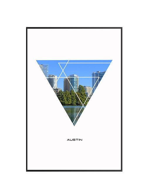 "Austin City Poster 24""x36"""