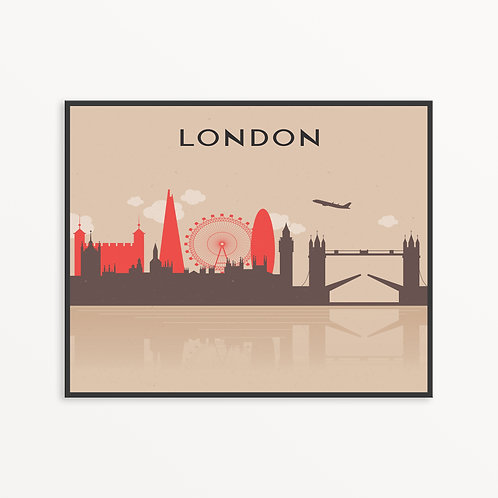 Colorful London City Silhouette v2