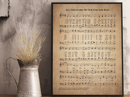 All creatures of our God and King- Hymn Print