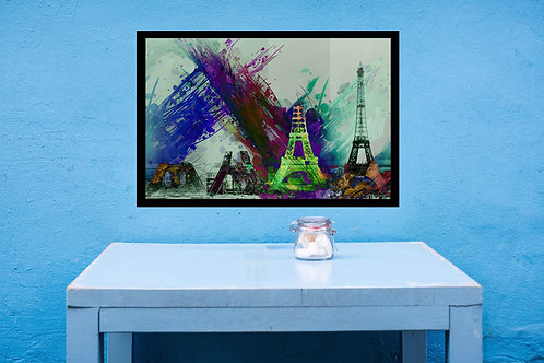 Eiffel Tower Large Wall Art