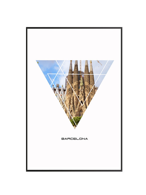 "Barcelona City Poster 24""x36"""